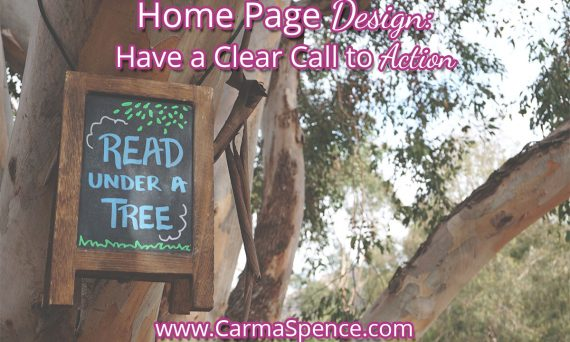 Home Page Design: Have a Clear Call to Action