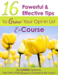 16 tips to grow your list e-course