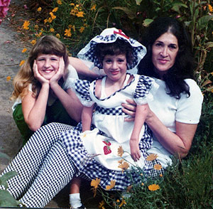 Carma and Toni with their Mom