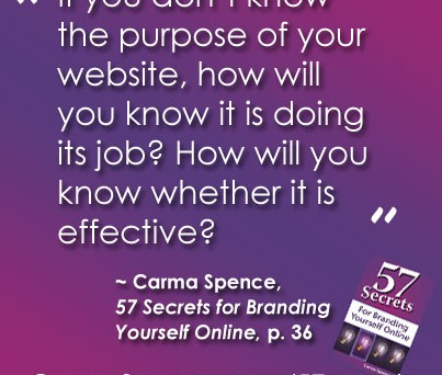 If you don't know the purpose of your website ...
