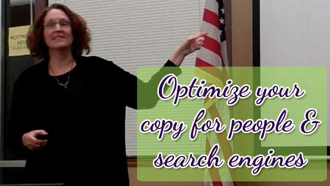 Optimize your copy for people and search engines