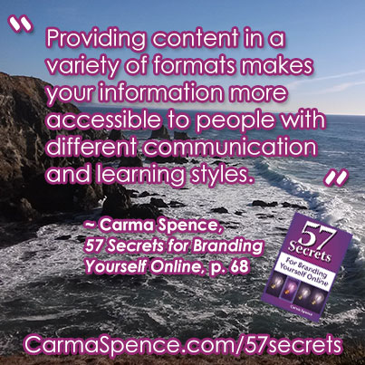 Providing content in a variety of formats makes your information more accessible