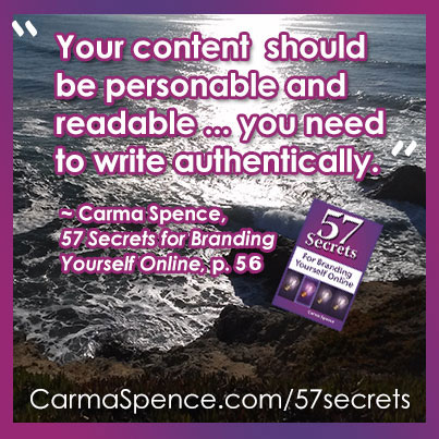 Your content should be personable and readable