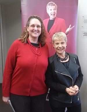 Carma Spence with Patricia Fripp