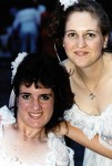 Toni and Carma at Mom's Wedding