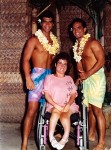 Toni with Two Hawaiian Hunks