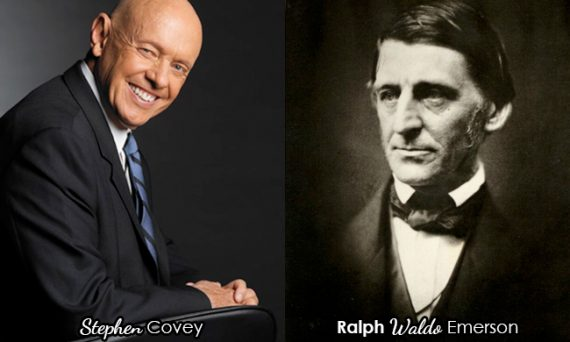 Stephen Covey and Ralph Waldo Emerson