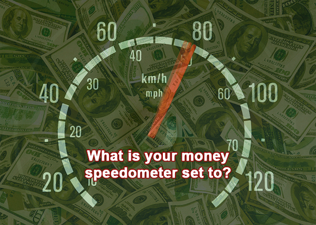 money speedometer