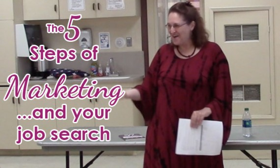 The 5 steps of marketing and your job search with Carma Spence