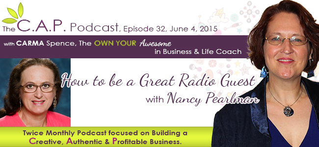 Nancy Pearlman on The C.A.P. Podcast
