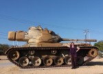 Carma posing as Tank Girl