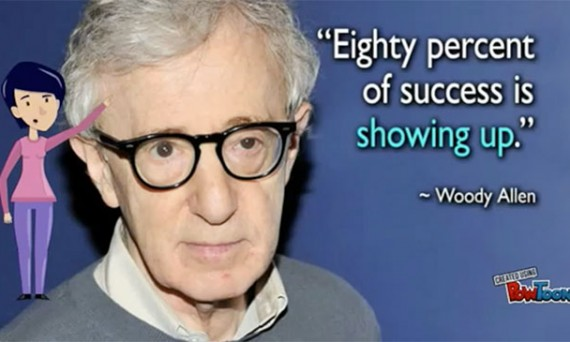 woody allen quote about showing up