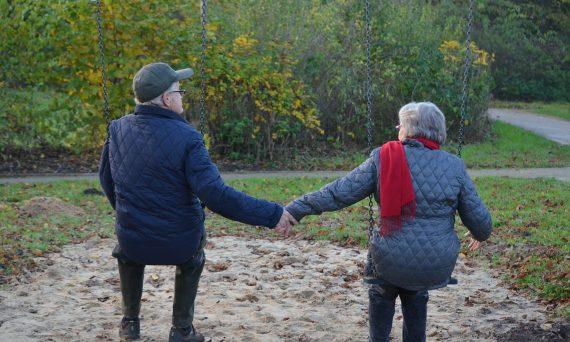 elderly people in love