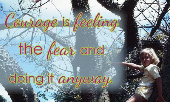 courage is feeling the fear and doing it anyway