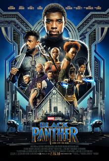 Black Panther movie poster, Marvel