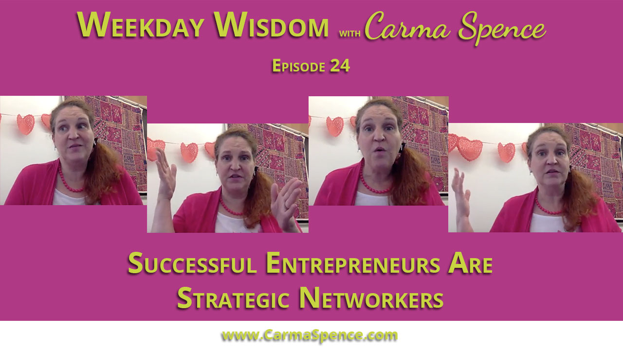 Successful entrepreneurs are stragetic networkers