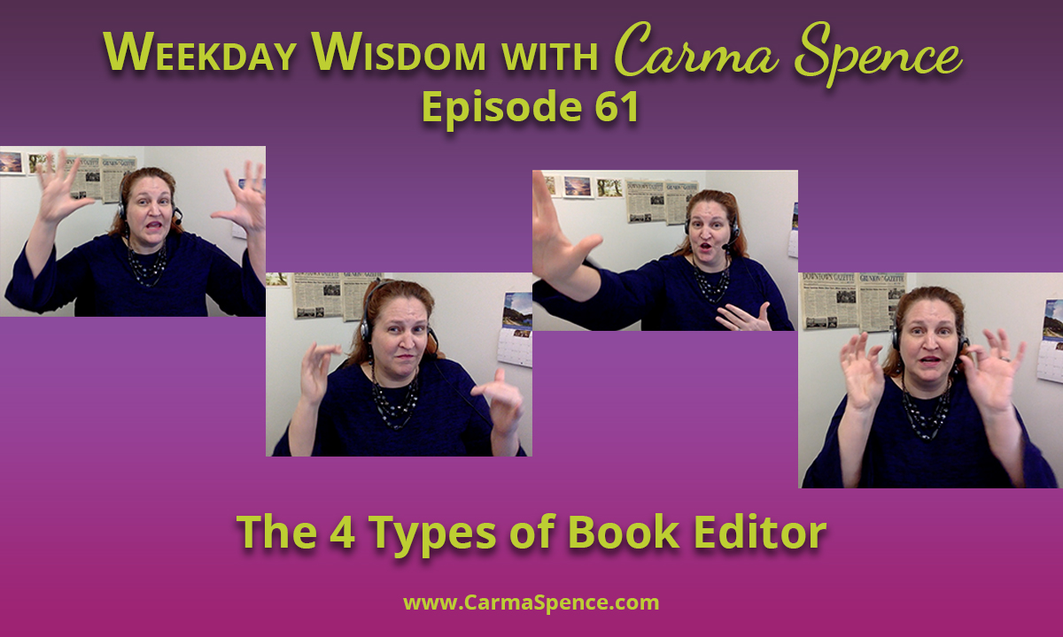The 4 Types of Book Editor