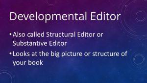 Developmental editor slide