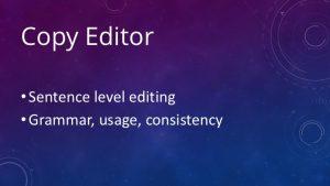 Copy Editor Slide