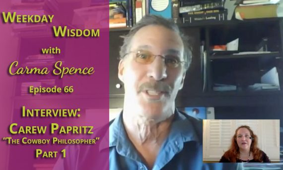 Author Carew Papritz on the Weekday Wisdom with Carma Spence