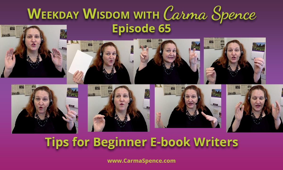 Tips for Beginner E-book Writers
