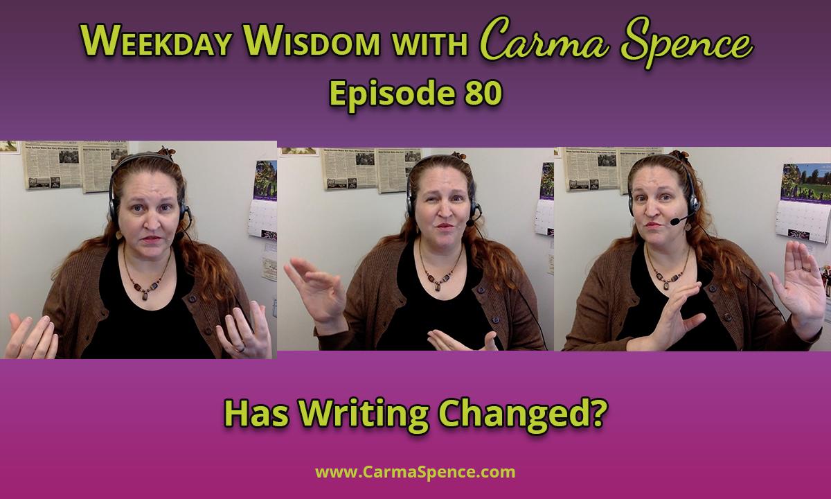 Has writing changed?