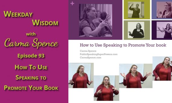 How to use speaking to promote your book