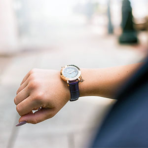 watch on a woman's wrist