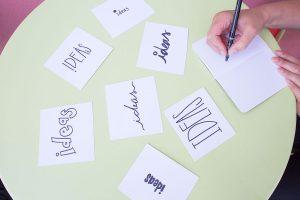 ideas on a table