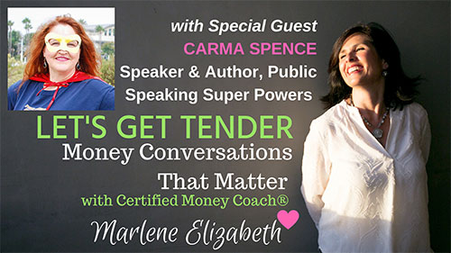 Carma on the Let's Get Tender Podcast with Marlene Elizabeth