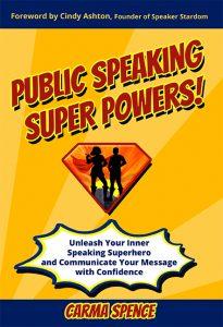 Public Speaking Super Powers cover - flat