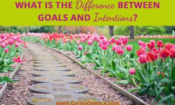 What is the difference between goals and intentions?
