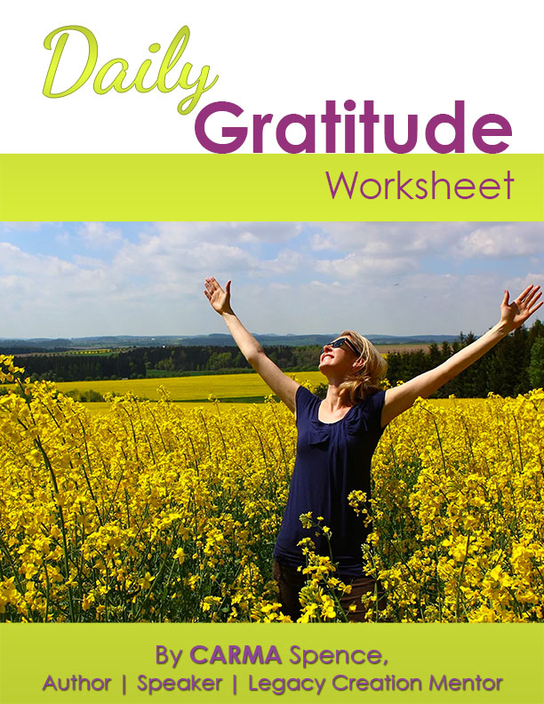 Daily Gratitude Worksheet