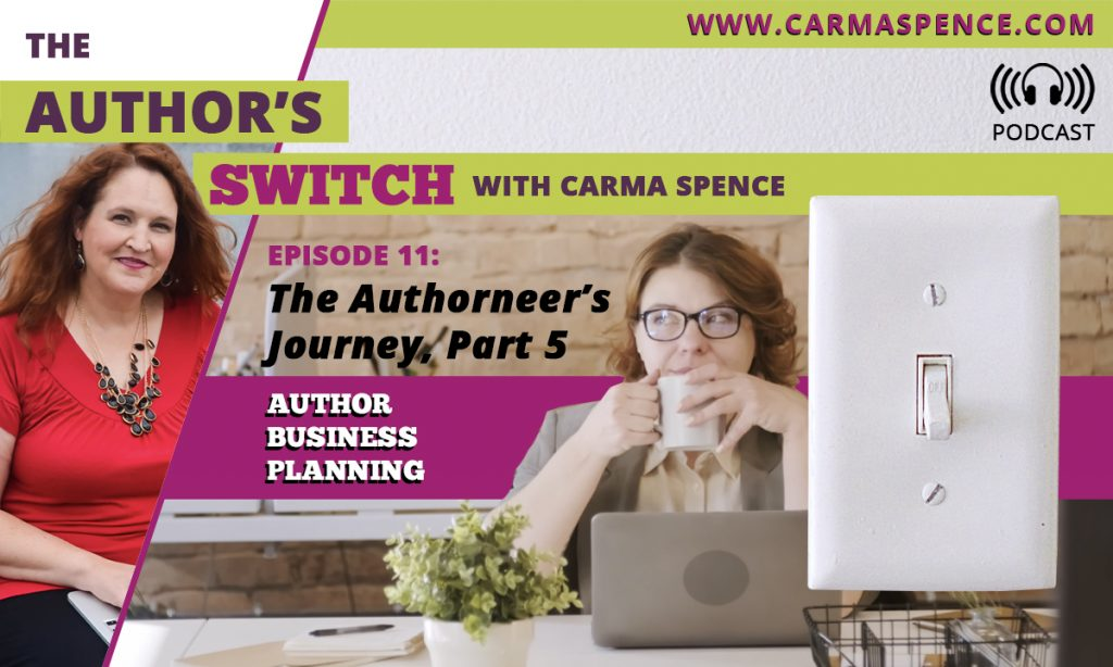 The Authorneer's Journey, Part 5 - The Author's Switch, Episode 11 - author business planning